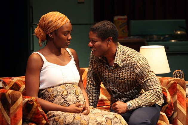 Abasiama (Katherine Turner) and Ukpong (Jarrod Smith) negotiate their new life in America. - JENNIFER REILEY