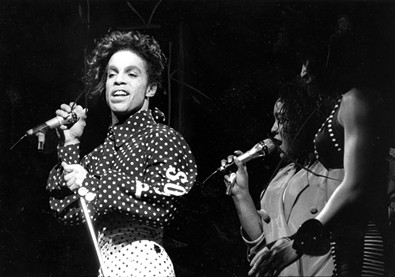 Prince at Oakland Coliseum in 1988.
