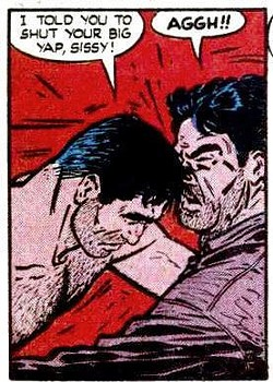 """Butt Riley in comic book form. - DETAIL OF """"CRIME DOES NOT PAY,"""" NO. 48, 1947."""