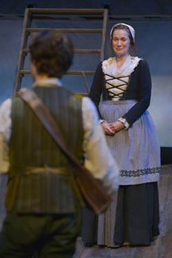 John Babbo (Jim Hawkins) and Kasey Foster (Mrs. Hawkins) in Mary Zimmerman's Treasure Island at Berkeley Rep. - KEVIN BERNE/BERKELEY REPERTORY THEATRE