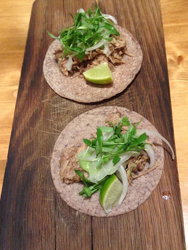 Pork Shank Carnitas Tacos