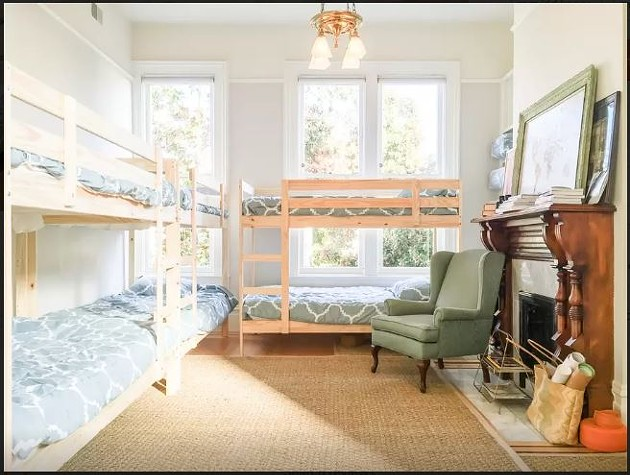 """""""Bunk bed 1"""" (of many) available at """"Sunnyside Travel House,"""" available to you on Airbnb. - AIRBNB"""