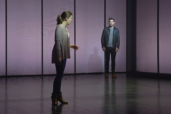 Margo Seibert as Cathy and Zak Resnick as Jamie. - KEVIN BERNE