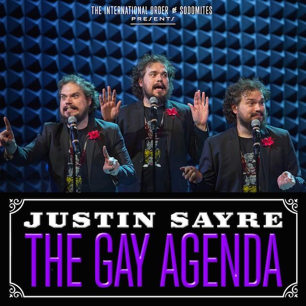 The Gay Agenda album cover - JUSTIN SAYRE/DAN FORTUNE