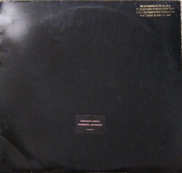 The promo-only release of The Black Album had no printed title, artist name, production credits or photography printed. - DISCOGS