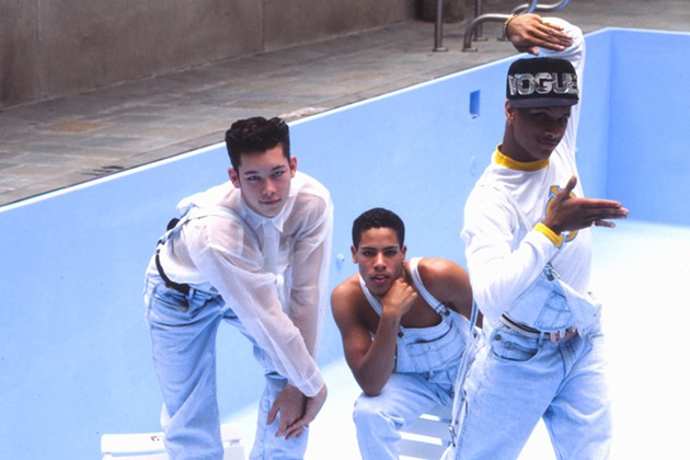 Super troupers Kevin Stea, Gabriel Trupin, and Oliver Crumes III first made a splash as Madonna's backup dancers, 25 years ago. - FRAMELINE