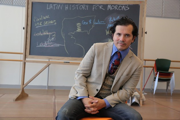 John Leguizamo in rehearsal for Latin History for Morons. Photographed at New 42nd Street Studios. - PHOTO: JOAN MARCUS/BERKELEY REPERTORY THEATRE