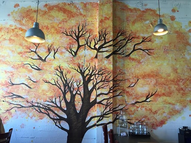 Here is a nice soothing image of an autumnal tree, from Laughing Monk Brewery, in case our earlier post about people trashing Dolores Park upset you. - PETER LAWRENCE KANE