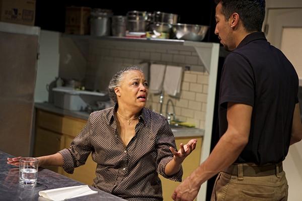 Cathleen Riddley as Shelley, Caleb Cabrera as Oscar - PAK HAN
