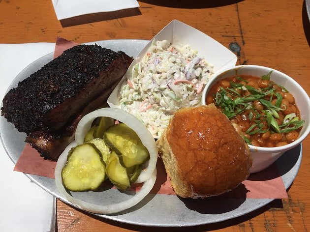 Look at this rib plate from 4505 Burgers & BBQ. It almost looks like a brisket! - PETER LAWRENCE KANE