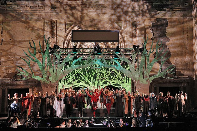 The set of The Cunning Little Vixen. - CORY WEAVER
