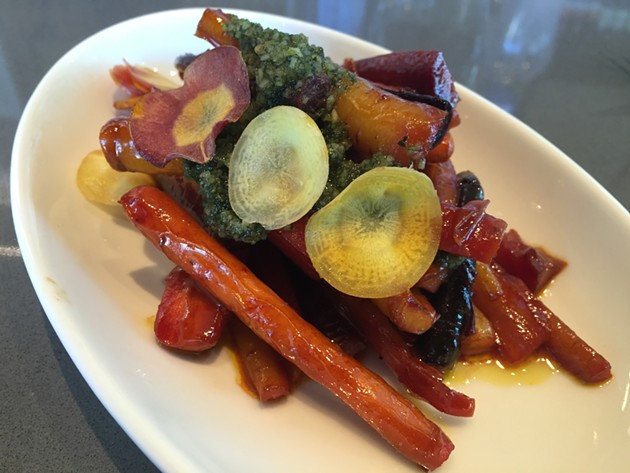 Carrots — a mere side dish! — at Corridor (100 Van Ness). - PETER LAWRENCE KANE