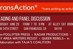 TransAction: Trans Writing as Activism (Reading & Discussion)