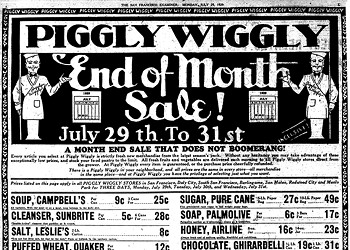 Vintage S.F. Ads: Piggly Wiggly and the Melancholy of Listerine