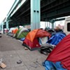 """Busing the Homeless? """"Tent City"""" Homeless May Relocate — to Pier 80"""