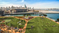 RENDERING BY STEELBLUE/PERKINS + WILL, SAN FRANCISCO GIANTS - China Basin Park