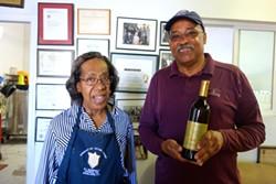 FERRON SALNIKER - Debritu Gebeyehu and Herb Houston at their winery in Oakland.