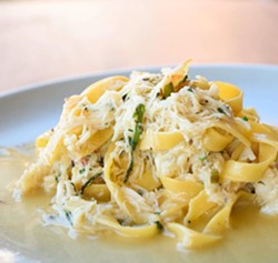 COURTESY OF WAXMAN'S - Dungeness crab tagliatelle