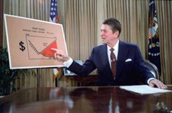 COURTESY - Ronald Reagan used a recession as an excuse to cut spending on social services –– like the safety net that existed since the Great Depression.