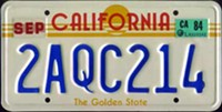 Let's Get a New California License Plate, Already