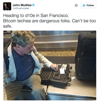 John McAfee Brings Guns to Bitcoin Fight in SF