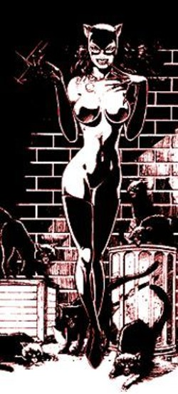 Uh, they don't call her Catwoman for nothing. Is she wearing any clothes?