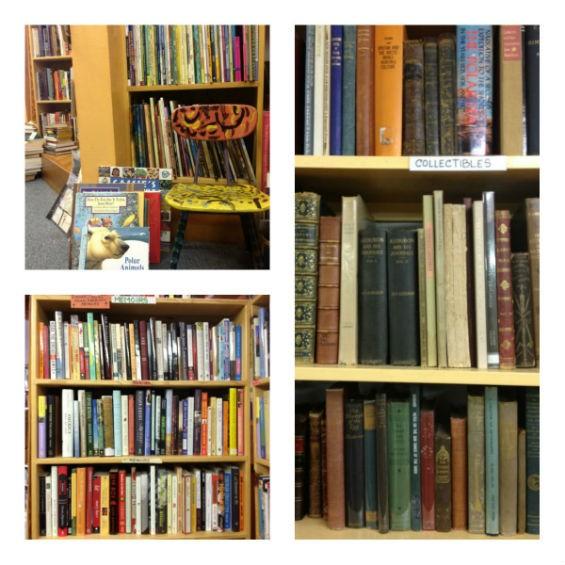 Upper Left: Children's books. Lower Left: Memoir. Main: Collectibles.