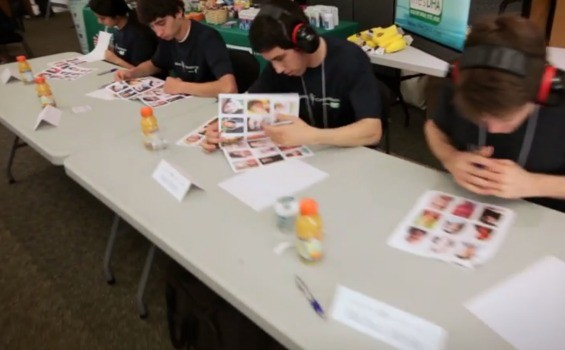 """USAMC competitors participating in the face memorization event. - ,A HREF=""""HTTP://WWW.YOUTUBE.COM/USER/SBNATION"""">YOUTUBE"""