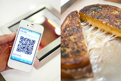 LARA HATA - Use a smart phone scan station to order this modern grilled cheese.