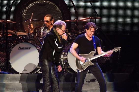 Van Halen at Oracle Arena Sunday night. - RICHARD HAICK