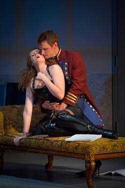 KEVIN BERNE - Vanda (Brenda Meaney) and Thomas (Henry Clarke) in casting mode.