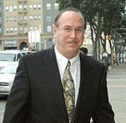 AP WIDE WORLD PHOTOS - Victor Conte, founder of the Bay Area Laboratory - Co-Operative (BALCO), outside the federal - courthouse in San Francisco.