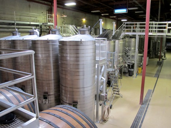 View of the winery from the Legacy Suite - LOU BUSTAMANTE