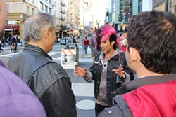 VALERIE DEMICHEVAZ - Vince Kelvin walks his charges through a kinder, gentler form of pickup artistry in Union Square.
