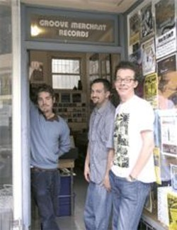 "ANGELA  POOLE - Vinyl hounds ""Cool"" Chris Veltri, Justin Torres, and Andrew Jervis."