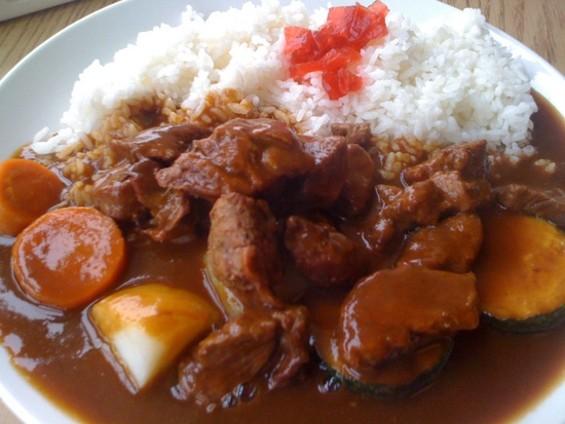 Volcano's beef curry, $6.95. - JONATHAN KAUFFMAN