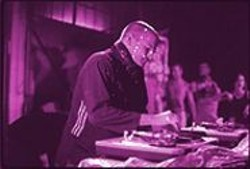 DAVID  AXELBANK - Wade Hampton, aka DJ WishFM, working the decks for Groove.
