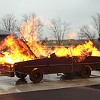 Police: Weekend's Flaming Car Had Nothing to Do With Other Flaming Cars