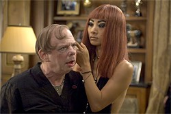 SAMUEL GOLDWYN FILMS - Wallace Shawn as Baron Von Westphalen and Bai Ling as Serpentine in Richard Kelly's Southland Tales.