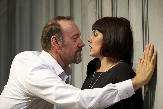 Was every woman in this humor wooed? Kevin Spacey and Annabel Scholey - MANUEL HARLAN