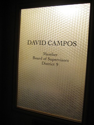 Was Supervisor David Campos working late...or was it a GHOST???