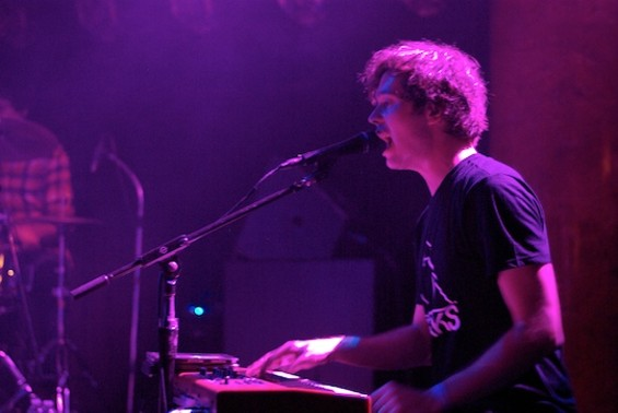 Washed Out's Ernest Greene at the keyboard