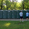 Man Clinging to Life After Being Robbed in a Porta Potti