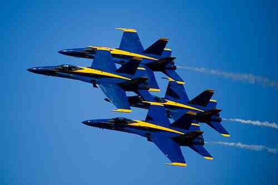 Watch the Blue Angels while eating street food on October 6. - FLICKR/JOSHUA DAVIS PHOTOGRAPHY