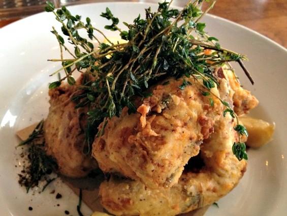Wayfare Tavern's fried chicken. - ANNA ROTH