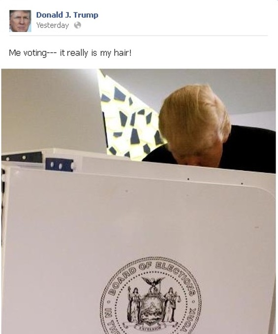 We couldn't beat Trump's own caption for this.