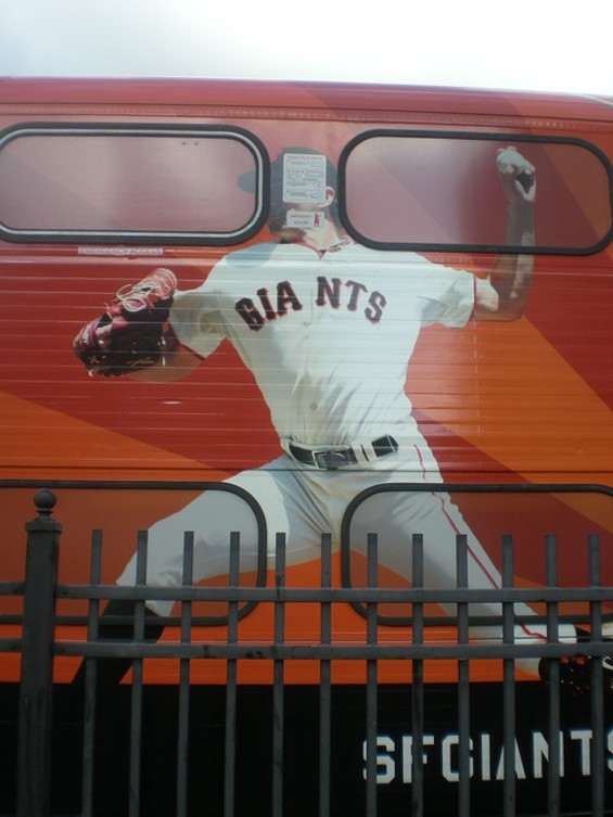 We have it on good authority that Barry Zito throws faster than Caltrain... - JOE ESKENAZI