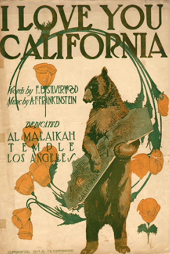 We love you too, California. Beary much. - JAMES M. KELLER COLLECTION. PHOTGRAPHY, THE SOCIETY OF CALIFORNIA PIONEERS.