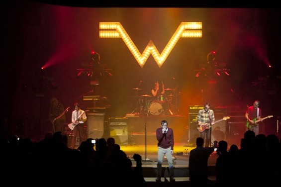 Weezer at the Nob Hill Masonic Center last night. Way more pics after the jump. - CHRISTOPHER VICTORIO