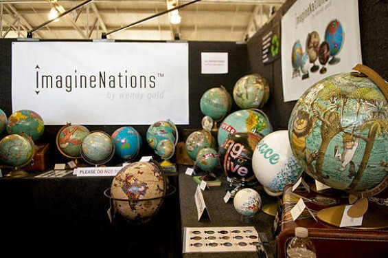 Wendy Gold has her way with the world in customizing globes for ImagineNations. - GIL RIEGO JR.